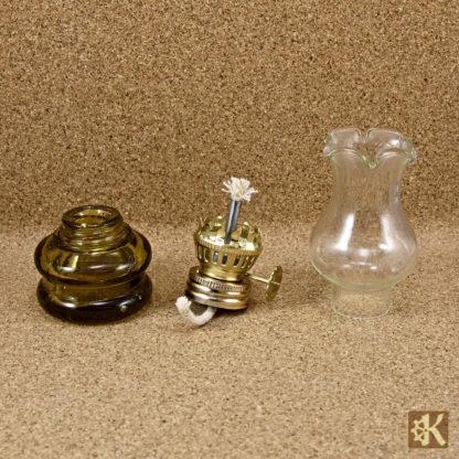 Kleine Öllampe braun