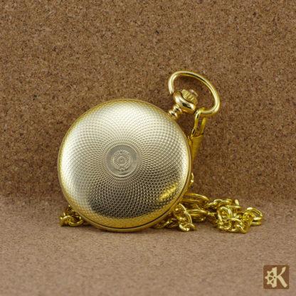 Taschenuhr einfache Klappe goldfarben