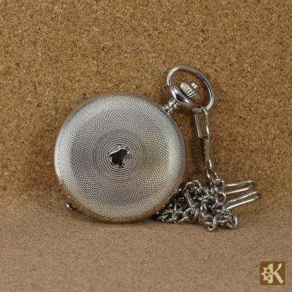 Taschenuhr Doppelklappe silberfarben
