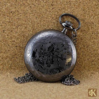 Taschenuhr schwarz ohne Klappe