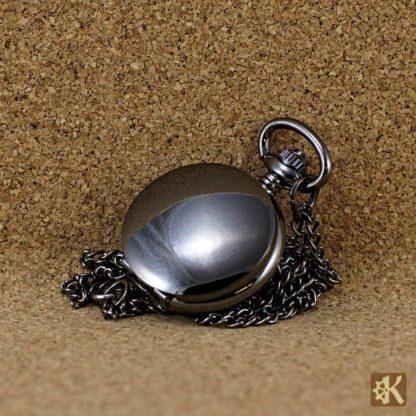 Kleine Taschenuhr schwarz einfache Klappe