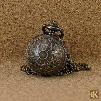 Kleine Taschenuhr Kugel Netzmuster
