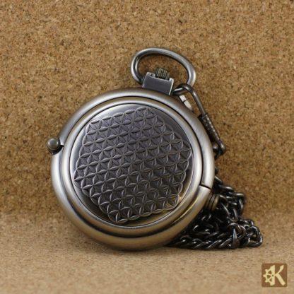 Taschenuhr einklappbar anthrazit